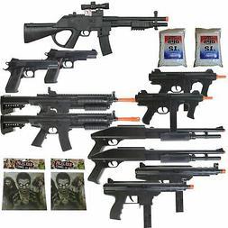 11 Airsoft Gun P2338 Sniper Rifle Package + Shotguns + Pisto