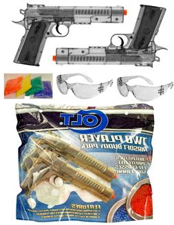 COLT 1911 Buddy Pack 2x Spring Airsoft Pistols Set w/Safety