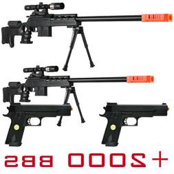 2 BLACK OPS PACKAGE LOT 4 AIRSOFT GUNS SPRING SNIPER RIFLE P