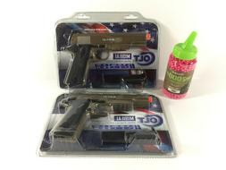 2 Colt M1911A1 Spring Airsoft Pistols Tan HPA High Grade Met