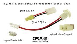 2 x CSI Male Mini Tamiya Connector to Large Female Airsoft A