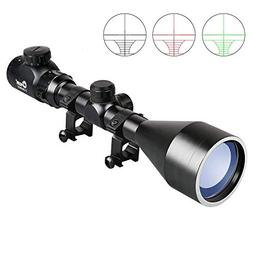 CVLIFE 3-9X56 Rifle Scope Red and Green Mil-dot Illuminated