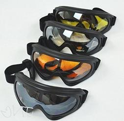 4 Goggles / Lot - Black + Clear + Amber + Yellow Multi Use M