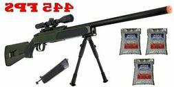 445 FPS ZM51G Spring Bolt Action Airsoft Sniper Rifle Gun MK