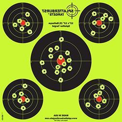 Splatterburst Targets - 12 x12 inch  Bullseye Reactive Shoot