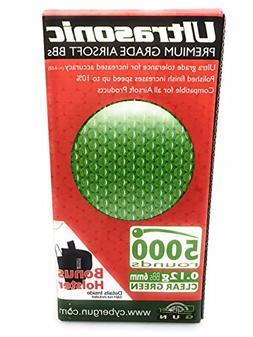 Ultrasonic 5000 6mm Airsoft BBs 0.12g Clear Green Premium Gr