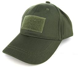 Trooper Clothing Kids 6 Panel Tactical Cap,OD Green, OD Gree