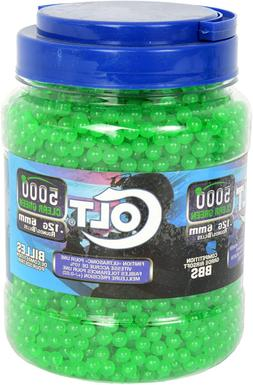 COLT 6mm .12G Airsoft BBs, CLEAR GREEN 10000 Count Round Com