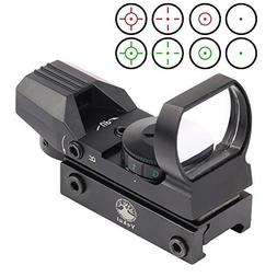 Vokul Tactical 4 Reticle Red Dot Open Reflex Sight with Weav
