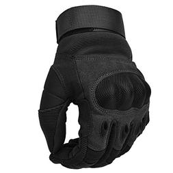 Adjustable Men's Tactical Gloves Hard Knuckle Sewn-in Brass