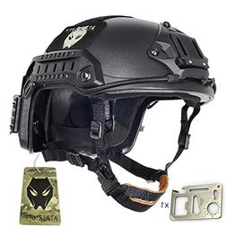 ATAIRSOFT Adjustable Maritime Protection Helmet Black For Ai