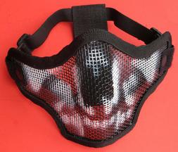 Extra Strong Airsoft Game Protection Metal Mesh Half Mask In