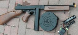 Airsoft Auto Electric Rifle Tommy Gun with 2 Magazines Shoot