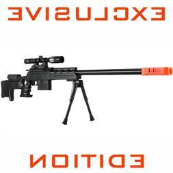 AIRSOFT BLACK OPS Ballista MSR SPRING SNIPER RIFLE GUN w/ SC