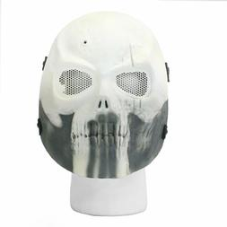 BBTac Airsoft Face Mask Punisher Skull Ghost Recon White Hal
