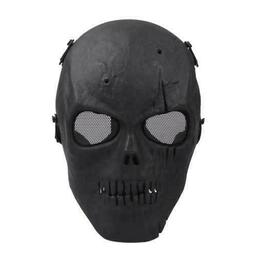JAG - Airsoft Full Half Face Mask Mesh Clear Lens Skull Hall