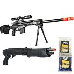 BBTac Airsoft Gun Package - American Sniper - Powerful Sprin