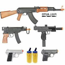 Airsoft Gun Package Includes 5 Airsoft Guns and 4000 BB Pell