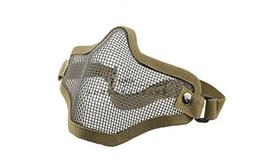 Airsoft Half Face Mask With Wire Mesh Tan