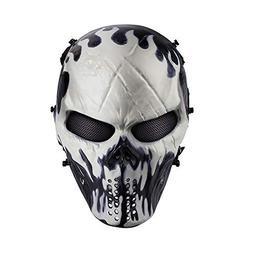 Airsoft Mask Full Face W/ Metal Mesh Eye Protection Will-O'-