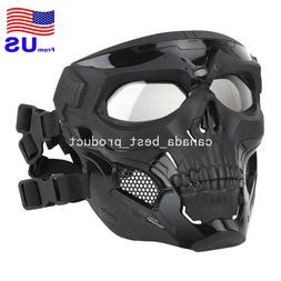 Airsoft Paintball Cosplay Halloween Adjustable Skull Full Fa