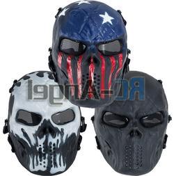 Airsoft Paintball Full Face Skull Skeleton CS Mask Tactical