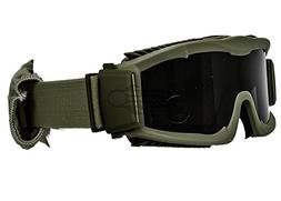 Lancer Tactical Airsoft Safety Goggles, Vented, Green Frame,