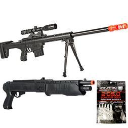 BBTac Airsoft Sniper Gun Package - Powerful Spring Sniper Ri