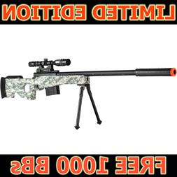 Airsoft Sniper Rifle Gun w/ Scope Bipod AWP Spring Bolt P270