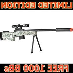Airsoft Sniper Rifle Gun w/ Scope Bipod AWP Spring Bolt P270