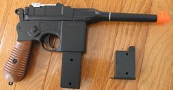 Airsoft Spring Pistol C96 Mauser Broomhandle with 2 magazine