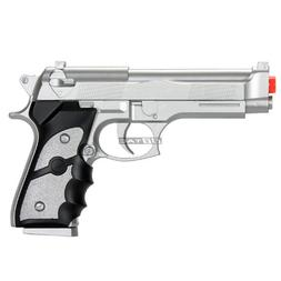 BBTac Airsoft Spring Pistol Silver 150 FPS Spring Loaded Pow