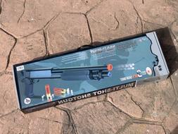 Airsoft Spring Powered 12GA Style Tri-Shot Shotgun 6mm
