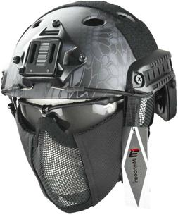 Airsoft SPT Metal Mesh Full Face Mask Sparta Tactical AF Mas