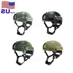 Airsoft Tactical Hunting MICH 2001 Combat Helmet with Side R