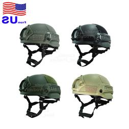 Airsoft Tactical Hunting MICH 2002 Combat Helmet with Side R