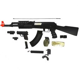 CYMA AK-47 ELECTRIC AEG FULL AUTO AIRSOFT RIFLE GUN w/ PISTO