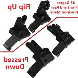AR15 AR 15 Front and Rear flip up 45 Degree Rapid Transition