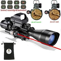 Rifle Scope Combo C4-16x50EG with Green Laser / 4 Holographi