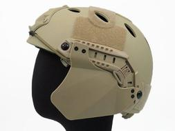 Airsoft Up-Armor Side Cover for Fast Helmet Rail Tan