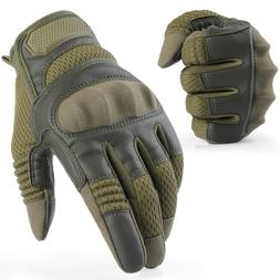 Leather Attack Style Full Finger Gloves Tactical Hunting Air