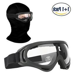 COOLOO Balaclava & Ski Goggles Sets, Ultralight Balaclava Fa