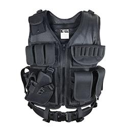 SMARTSTANDARD Large Size Beathable Molle Tactical Vest Cs Fi