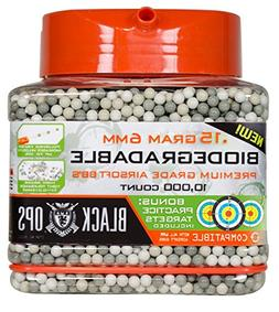 Black Ops Premium Biodegradable .15 Gram 6mm Air Soft BBs 10