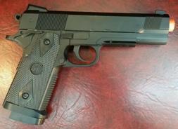 Black finish Full Metal Heavy duty Spring Airsoft Gun Pistol