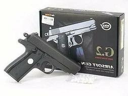 """Black Full Metal Airsoft Pistol 6.5"""" G2 Gun 200fps Air Soft"""