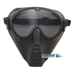 Black Metal Mesh Protective Airsoft Paintball Tactical Full