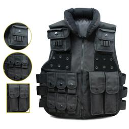 Black Military Combat SWAT Airsoft Tactical Vest Carrier Com
