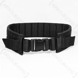 Black MOLLE Modular Belt - Tactical Padded Airsoft Army Mili