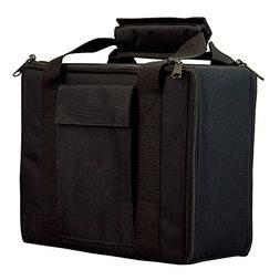 Bulldog Cases Black Nylon 4 Pistol Case with Locking Zipper
